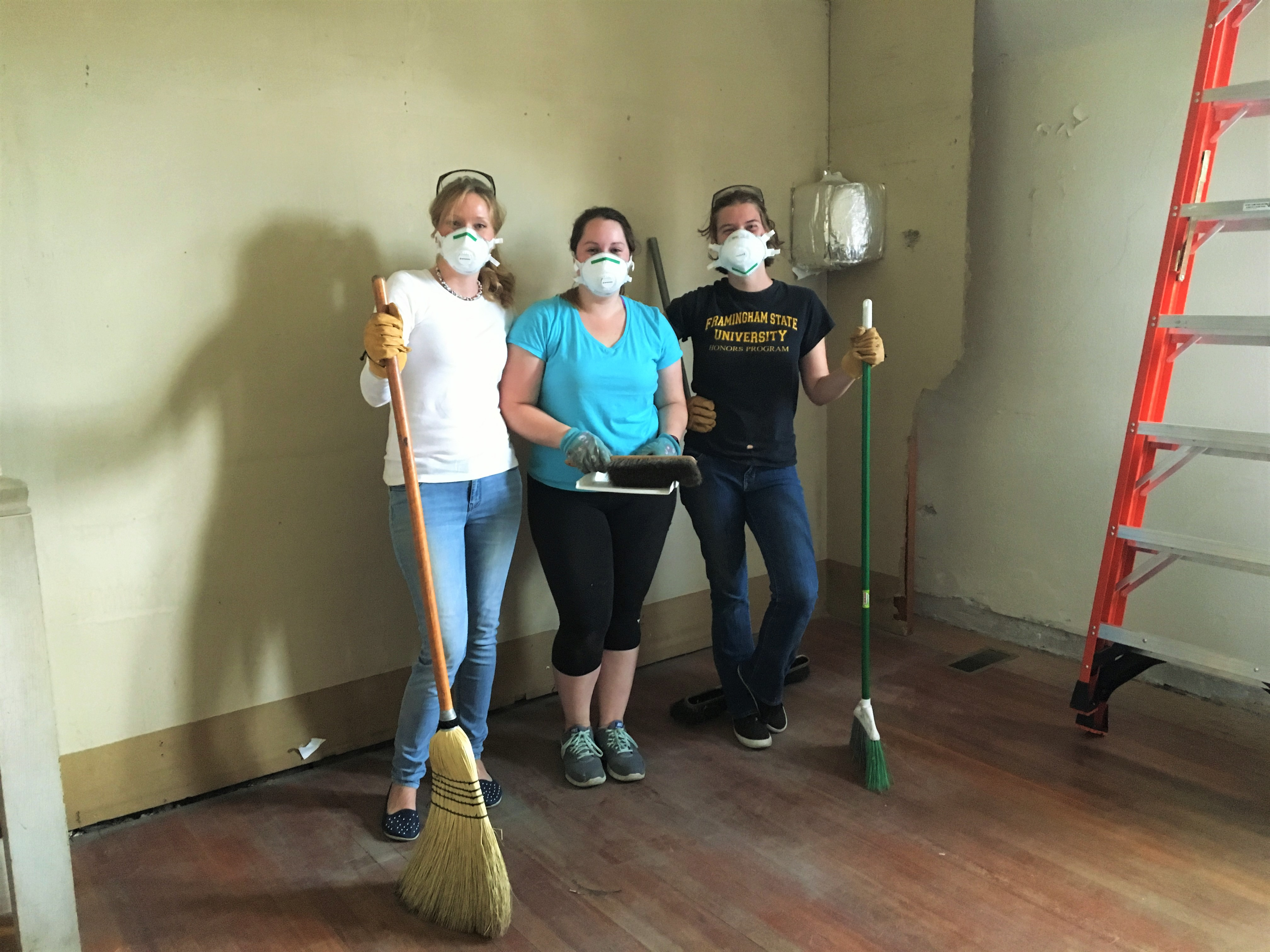 Clean up crew, Katie, Laura and Colleen