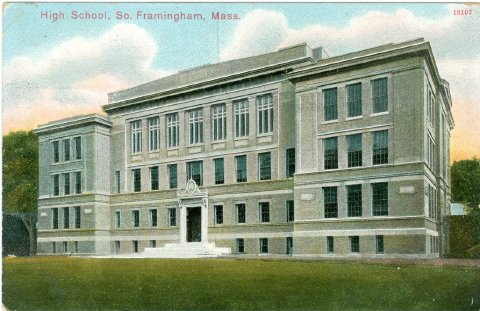 High School, So. Framingham, Mass.